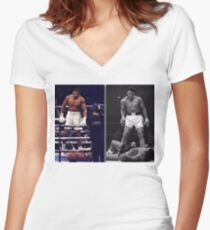 Joshua & Ali Stand Tall Women's Fitted V-Neck T-Shirt