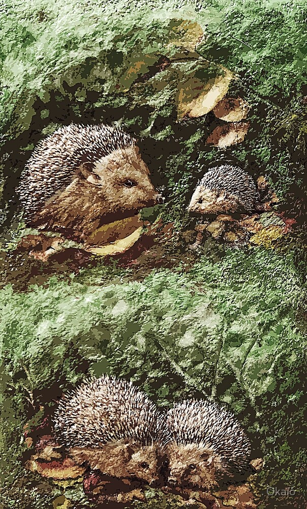 """Exclusive: """" Hérissons-Hedgehogs """" / My Creations Artistic Sculpture Relief fact Main 38  (c)(h) by Olao-Olavia / Okaio Créations by . Okaïo"""