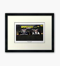Nigel Mansell & Ayrton Senna Framed Print