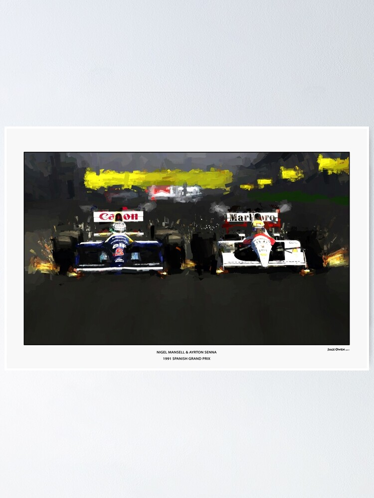 AYRTON SENNA CANVAS PRINT PHOTO POSTER WALL ART FORMULA 1 ONE F1