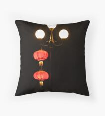 Night Lanterns Throw Pillow