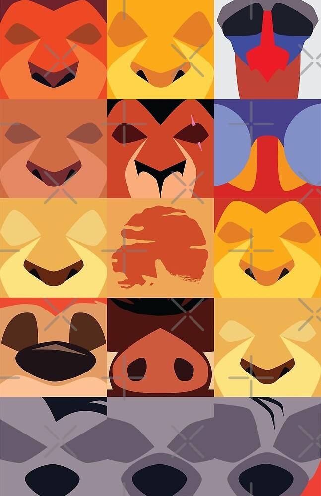 Minimalist Lion King Icons by samohtlion