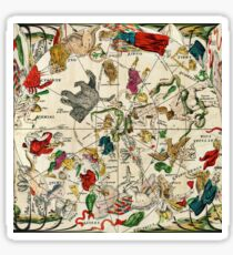 Vintage Astrology Star Map Sticker
