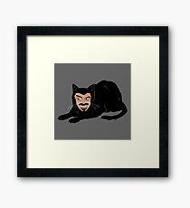 Vlad the Cat (Gray) Framed Print