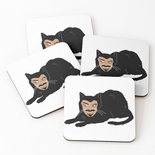 Vlad the Cat (Gray) Coasters (Set of 4)