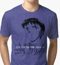 Shinji Ikari Tri-blend T-Shirt