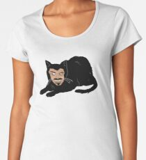 Vlad the Cat (Gray) Women's Premium T-Shirt