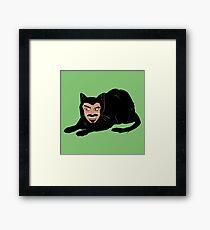 Vlad the Cat (Green) Framed Print