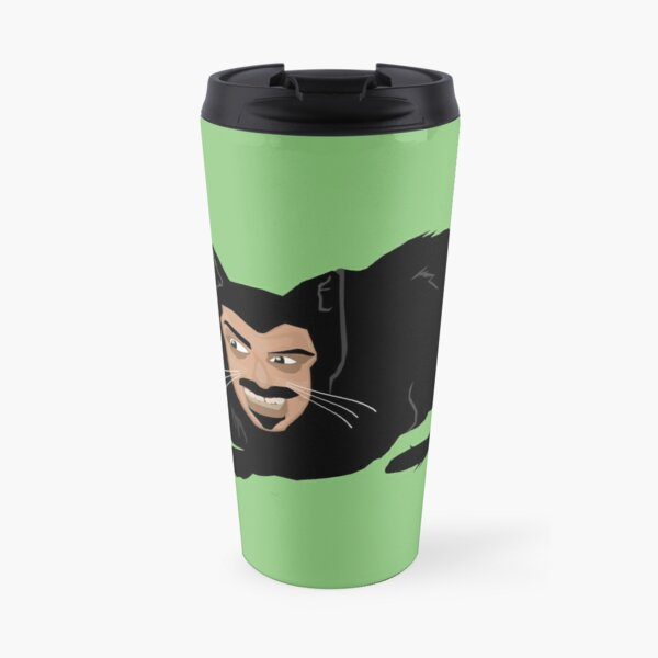 Vlad the Cat (Green) Travel Mug