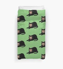 Vlad the Cat (Green) Duvet Cover