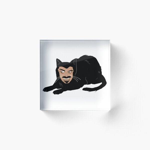 Vlad the Cat (Green) Acrylic Block