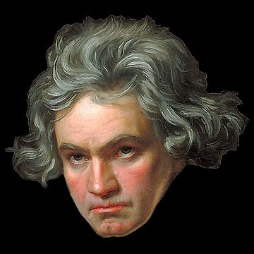 BEETHOVEN, MUSIC, Ludwig van Beethoven, German, composer, pianist, on Black by TOMSREDBUBBLE