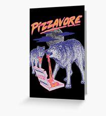 Pizzavore Greeting Card