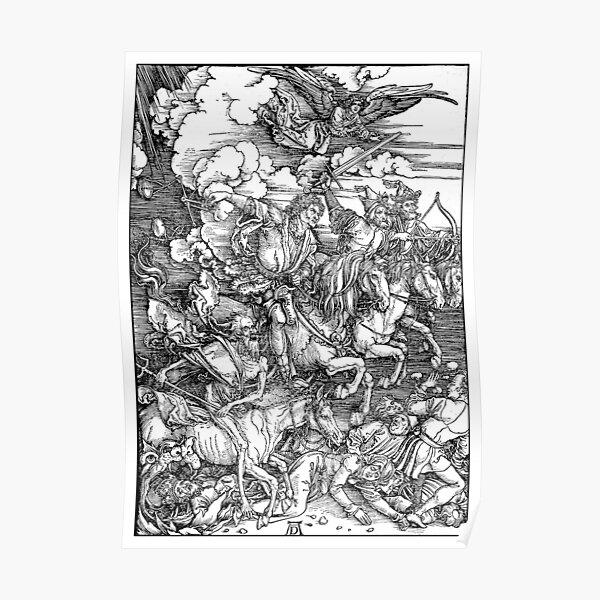 APOCALYPSE. Durer. Revelation. 4 Horsemen, Four Riders. Poster