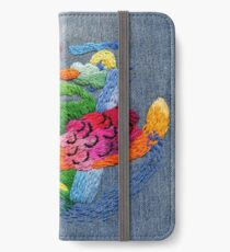 abstract embroidery iPhone Wallet/Case/Skin