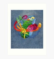 abstract embroidery Art Print