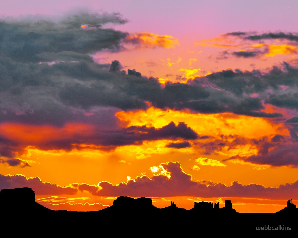 Sunset at Monument Valley by webbcalkins