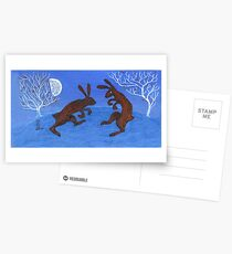Boxing Hares Postcards
