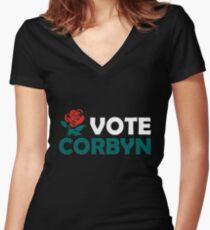 Vote Corbyn Women's Fitted V-Neck T-Shirt