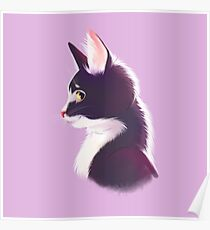 Sly cat in profile Poster