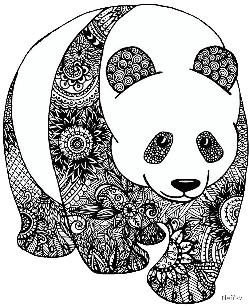 « panda mandala » par neffvv  redbubble