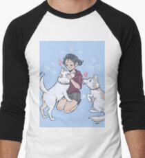 kirstin maldonado - olaf and pascal Men's Baseball ¾ T-Shirt