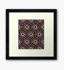 Paint Geometry Closer Pattern (Black) Framed Print