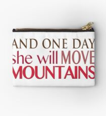 She Will Move Mountains Studio Pouch