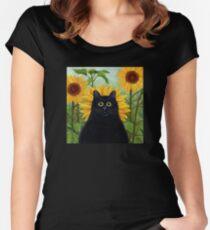 Dan de Lion with Sunflowers Women's Fitted Scoop T-Shirt