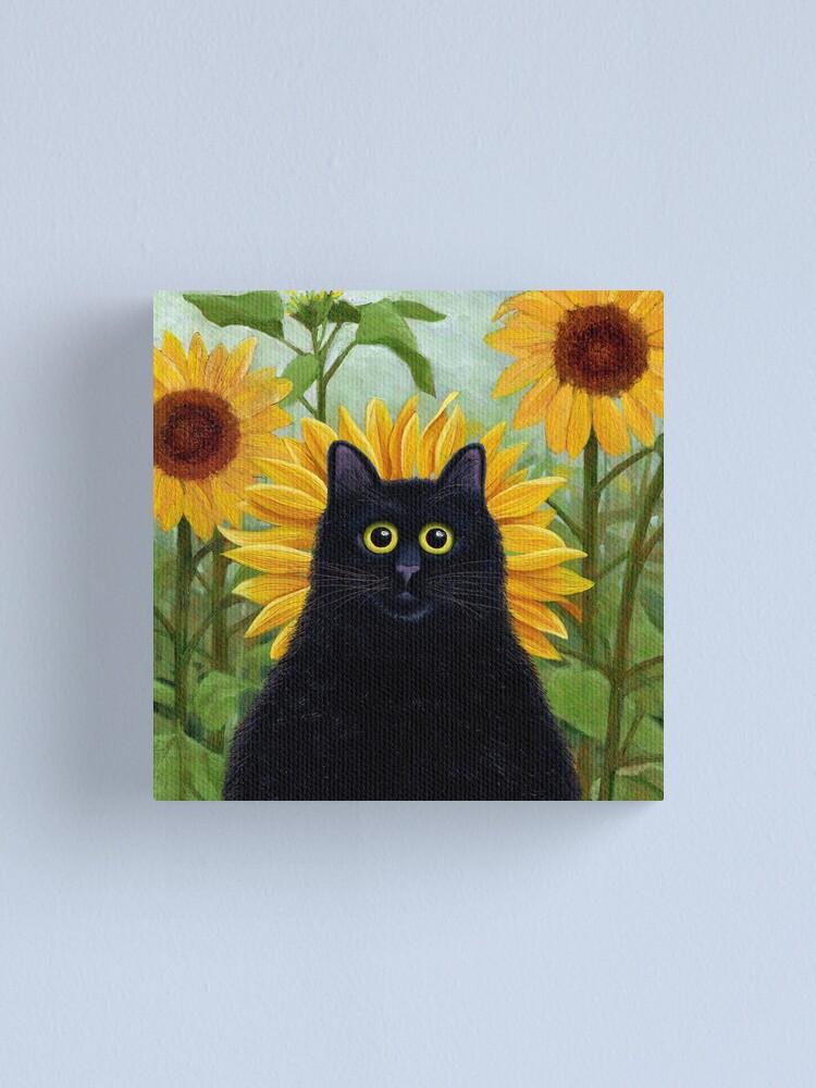 Alternate view of Dan de Lion with Sunflowers Canvas Print