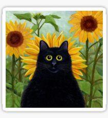 Dan de Lion with Sunflowers Sticker