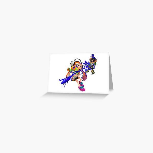 Inkling Girl PERSONALISED BIRTHDAY CARD Splatoon personalized gamer greeting