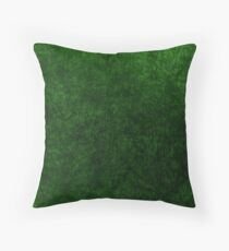 Emerald Green Grass Velvet | Texture #home #lifestyle Throw Pillow