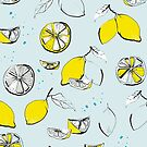 Lemons - blue by youdesignme