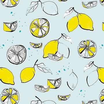 Lemons - blue von youdesignme