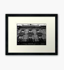 part of heritage building Framed Print