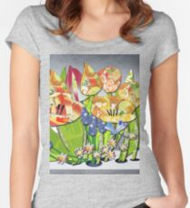Dutch Spring Tulips Women's Fitted Scoop T-Shirt