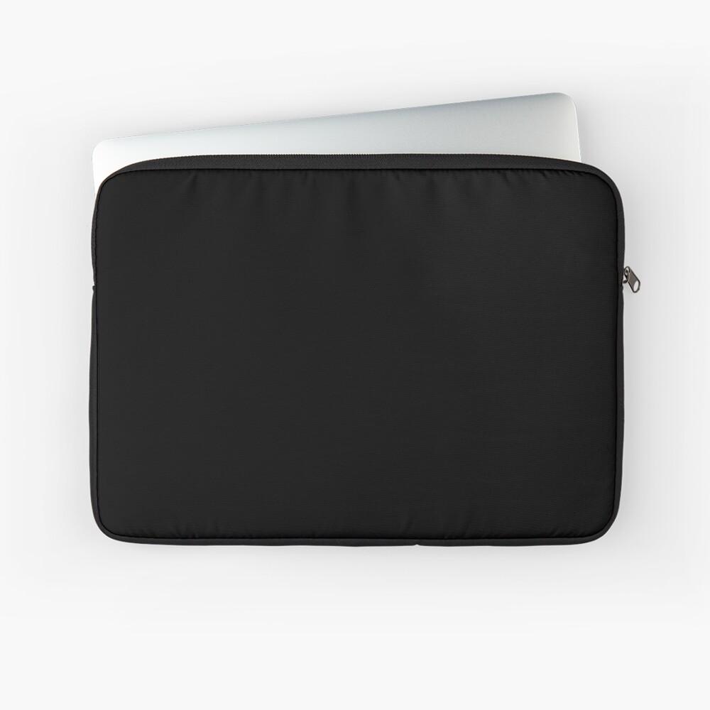 PLAIN BLACK | SOLID BLACK | DARKEST BLACK | MOONLESS SKY | ACCENT BLACK | HIGHEST SELLING BLACK Laptop Sleeve