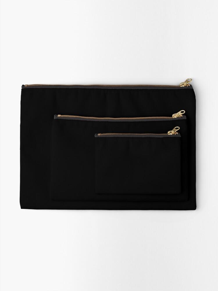 Alternate view of PLAIN BLACK | SOLID BLACK | DARKEST BLACK | MOONLESS SKY | ACCENT BLACK | HIGHEST SELLING BLACK Zipper Pouch