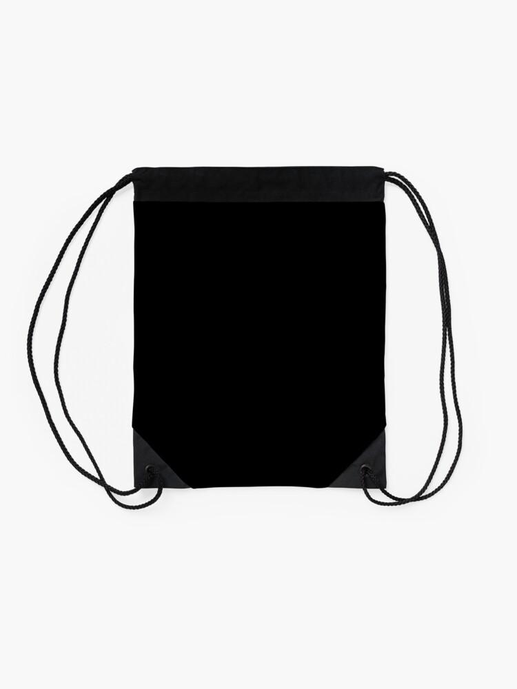 Alternate view of PLAIN BLACK | SOLID BLACK | DARKEST BLACK | MOONLESS SKY | ACCENT BLACK | HIGHEST SELLING BLACK Drawstring Bag