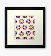 Paint Geometry Closer Pattern Framed Print