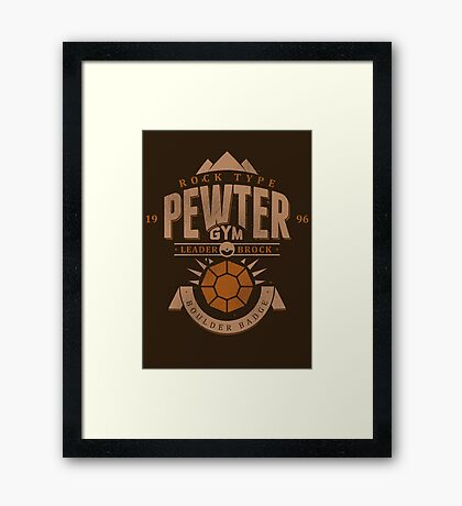Pewter Gym Framed Print