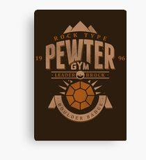 Pewter Gym Canvas Print
