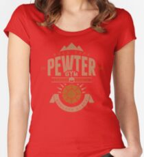 Pewter Gym Women's Fitted Scoop T-Shirt