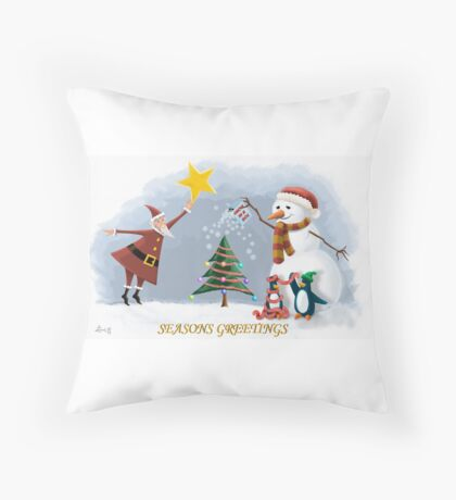 Chrismas tree Throw Pillow