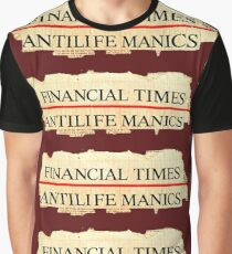 Antilife Manics Anagram Graphic T-Shirt