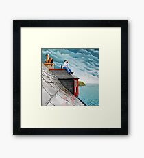 Tea Break. Gardenstown. Framed Print
