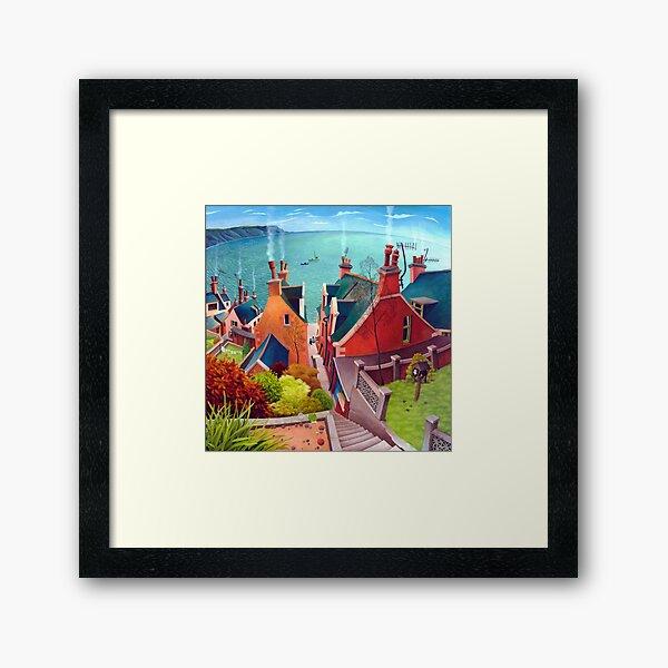 Sea houses. Gardenstown. Framed Art Print