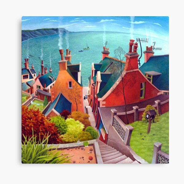 Sea houses. Gardenstown. Canvas Print