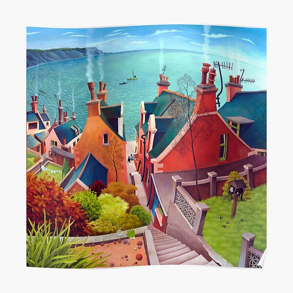 Sea houses. Gardenstown. Poster